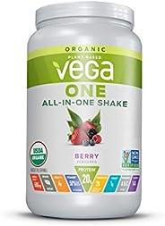 Vega (维加) - 一个全在一起的植物根据震动粉末饮料混合莓果 - 24.3 盎司