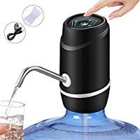 PUDHOMS 5 加仑水分分装器 - USB 充电水泵 5 加仑水瓶 通用适配水瓶 便携式电动水壶分配器 饮水器 5 加仑(约 12.7 升)