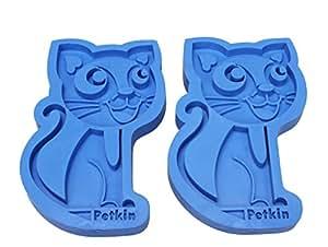 宠物橡胶库里梳猫狗洗发露按摩梳子除毛器刷 ZG 1 蓝色 2件装