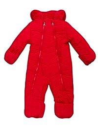 Steve Madden 女婴防雪服 – 涤纶填充摇粒绒内衬羊绒毛连帽(婴儿尺码)