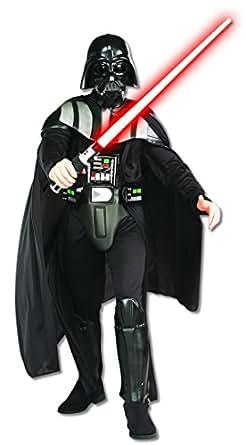 Rubie's Costume 星球大战达斯·维达豪华成人服装 黑色 X-Large