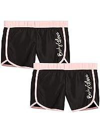 Body Glove 女童 2 件装运动锻炼瑜伽跑步短裤
