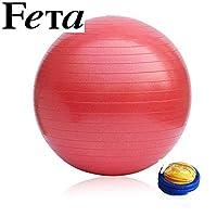 FETA 非他 直径45cm瑜伽球 无异味 蜂窝微孔发泡 加厚防爆专业瑜珈球 磨砂防滑孕妇分娩运动健身球 红色 送打气筒