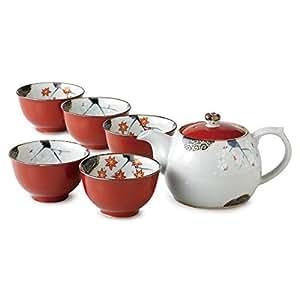 茶壶 : 有田烧 朱卷春秋 ( U ) 壶 ( 黑 )