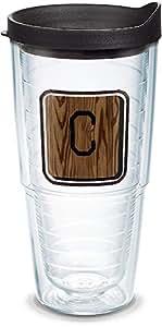 Tervis 海岸警卫队不锈钢保温杯,带蓝*盖 透明 24 oz 1316648