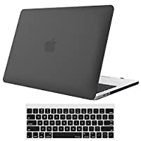 ProCase 13 英寸 MacBook Pro 用笔记本电脑保护壳 适用于 2017 年和 2016 年发售的 A1706/A1708 型笔记本电脑 硬质保护壳和键盘膜 适用于 13 英寸 Apple 苹果 MacBook Pro 笔记本电脑 黑色 Macbook Pro 13 (A1706 / A1708)