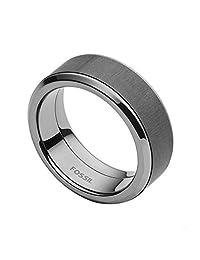 Fossil 男式不锈钢戒指 - JF02368793-8