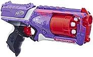 Hasbro 孩之宝 Nerf 热火 适合拥有强壮有力手臂的精英冲击波玩具枪,带有旋转枪管,大满贯火力,以及6个面向儿童,青少年和成人的官方热火精英飞镖