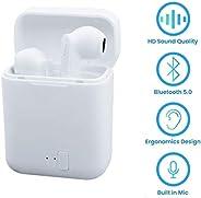 无线耳塞,无线蓝牙耳塞带充电盒,立体声耳机,轻便运动耳机,带降噪耳塞,适用于所有智能手机