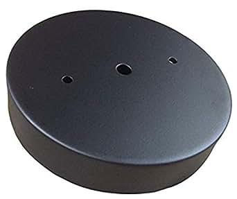 工业倒带天花板遮篷套件,深单孔遮阳蓬(带安装孔)用于吊灯 黑色 1hBlkCn