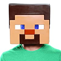 Disguise Minecraft Steve 男士成人面具