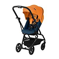 CYBEX Gold 婴儿车 Eezy S Twist+,360°旋转座椅,超小巧,重量轻,出生至17公斤(约 4 岁) 热带蓝