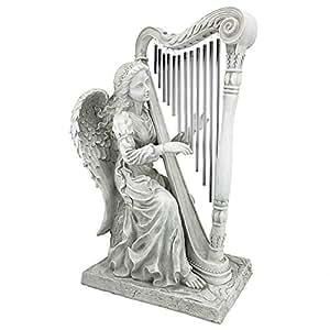 Design Toscano Music 来自天使雕像,带琴风铃 中 NG29970