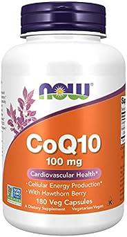 NOW Foods 諾奧輔酶 Q10 100 毫克含山楂,180 粒素食膠囊