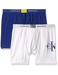 Calvin Klein 男童现代棉质平角内裤,多件装