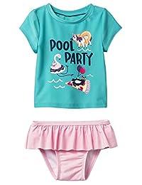 Cat & Jack 女婴短袖泳池派对*服套装
