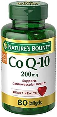Nature's Bounty CoQ10 膳食补充剂软胶囊,有益于身体,200毫克