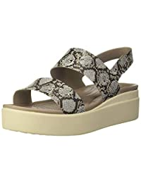 crocs Brooklyn 女士低坡跟 W 休闲人字拖 女士运动鞋
