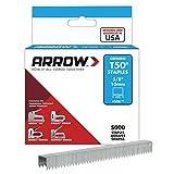 """Arrow Fastener 506IP T50平线卡钉 3/8"""" 10mm脚长 (Arrow Fastener 506IP Genuine T50 3/8-Inch Staples 5000-Pack)"""