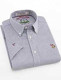 美国大牌 买2件减20元 U.S. POLO夏季短袖衬衫男士商务正装纯棉T恤休闲修身男士上衣服2018年新款服饰服装男装