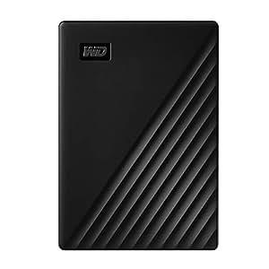 Western Digital 5TB My Passport 便携式外置硬盘,黑色 - WDBPKJ0050BBK-WESN