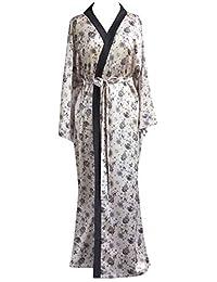 JANA JIRA 女式和服长袍及踝长袍 适合女士睡袍 加大码 2X/3X