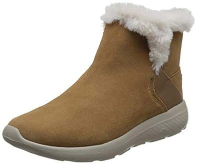 Skechers 斯凯奇 ON THE GO CITY 2系列 女 轻质毛里一脚蹬短靴 14635-CSNT 栗色 35 (US 5)