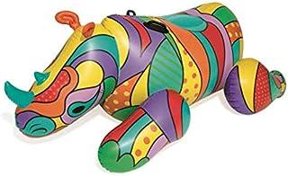 Bestway H2OGO! POP Culture Rhino Pool Lake 充气夏季派对漂浮 w/重型把手