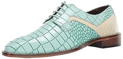 STACY ADAMS 男士 Triolo Croc Lizard 印花系带牛津鞋 Light Aqua Multi 10.5 M US