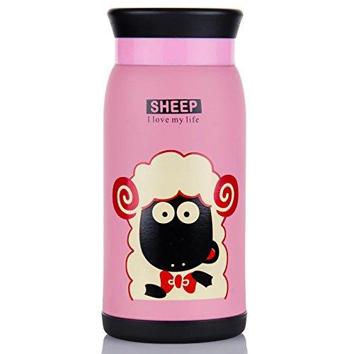 宇一圣 保温杯韩国可爱大大肚杯350ml美羊羊
