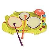 B.Toys 比乐 青蛙鼓 饶舌蛙电子鼓 发光音乐鼓 打击乐器玩具 感官训练 早教 2岁+ BX1389Z 婴幼儿童益智玩具 礼物