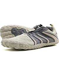 Oranginer 男式赤脚鞋 - 大头鞋盒 - 极简主义男士交叉训练鞋 2-米色 9.5