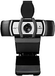 Logi C930e 1080P 高清視頻網絡攝像頭 - 帶隱私快門 - 90 度擴展視圖,Microsoft Lync 2013 和 Skype 認證 - 國際版