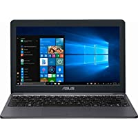 华硕超薄轻质 11.6 英寸高清高级笔记本电脑带 32GB MicroSD 卡 | Intel Celeron 双核 | 2GB 内存 | 32GB EMMC 存储 | USB-C | WiFi | GbE LAN | HDMI | Windows 10 | 星灰色