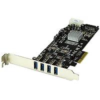 StarTech.com SuperSpeed USB 3.0 PCI Express Card with SATA Power StarTech.com SuperSpeed USB 3.0 PCI Express Card with SATA Power 4 Ext Dual Bus
