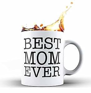 Shop4Ever Best Mom Ever 新奇陶瓷咖啡杯茶杯礼物 ~ 母亲节 ~ 白色 11 oz. C_Mug_BestMomEver