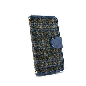 whitenuts 保护套翻盖式苏格兰格子 ブルー×チャコール 1_ iPhone5s