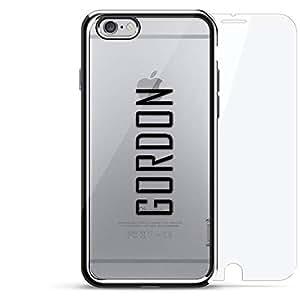 镀铬系列 360 套装:设计师手机壳 + 钢化玻璃 适用于 iPhone 6/6s PlusLUX-I6PLCRM360-NMGORDON2 NAME: GORDON, MODERN FONT STYLE 银色