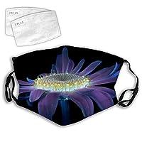 166 花朵花卉植物花卉植物口罩 3D 设计时尚防尘中性带可调节松紧带
