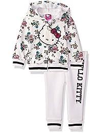 Hello Kitty 女婴连帽抓绒运动套装 2 件套