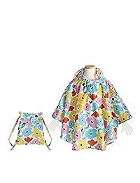 曲棍球 儿童用 雨披 苹果 共3色 儿童披肩 90 带收纳袋 粉色 90cm 83164