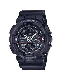 CASIO 卡西欧 男士模拟 - 数字石英手表带树脂手镯 GA-140-1A1ER