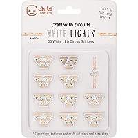 Chibitronics White LED Circuit Stickers - Megapack, 30 white LED circuit stickers