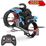 3T6B 2.4Ghz 迷你無人機、陸地和空氣 兩棲遙控摩托車飛機,兒童飛行玩具