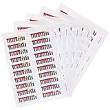 Quantum 100x 数据盒条形码标签,Lto Ultrium 7 LTO7 系列 000001-000100 数据盒