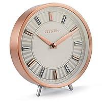 Citizen CC1021 装饰台钟,玫瑰金色