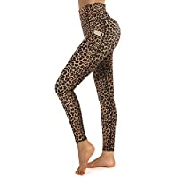 Promover 女式瑜伽裤高腰打底裤带口袋收腹四面弹力瑜伽打底裤锻炼裤