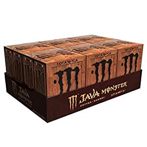 Java Monster Loca Moca, 咖啡 + 能量饮料, 每罐11盎司(325ml), 每件4罐 (6件装)