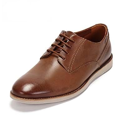 Clarks 男 正装鞋Franson Plain  261157307060 棕褐色 39.5 (UK 6)(亚马逊自营商品, 由供应商配送)
