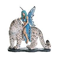 太平洋礼品装饰伴侣童话和雪豹纹收藏价值装饰雕像 8H
